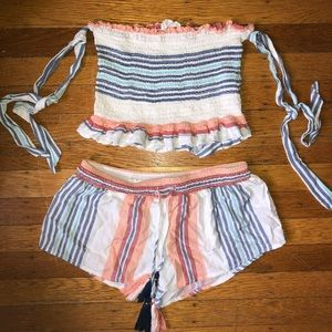 Ocean Drive Tops - Matching two piece set. Co-ord set